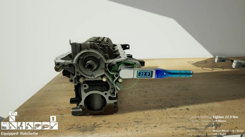 The Best Engine Assembling Experience Wrench Gameplay - Part 1 The Short Block