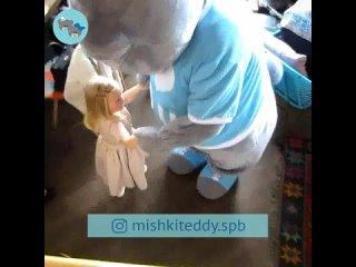 Поздравление в чайхане в СПб [ Принцессе 😍 4 годика ] Аниматор Мишка Тедди ▪ #самыймедведь