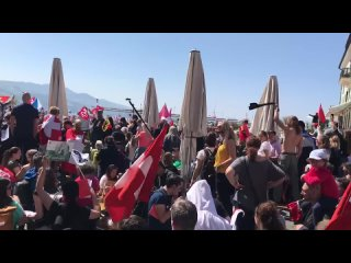 Швейцария (2 ролик), 25 апреля 2021 г., протест против коробесия