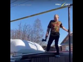 Сосед пытался зарубить собаку топором