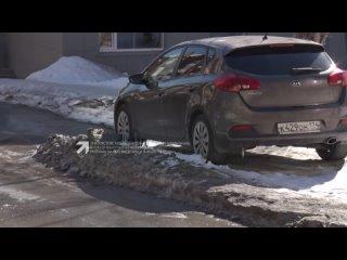 В Златоусте коммунальщики просят жителей не перегораживать автомобилями межквартальные проезды