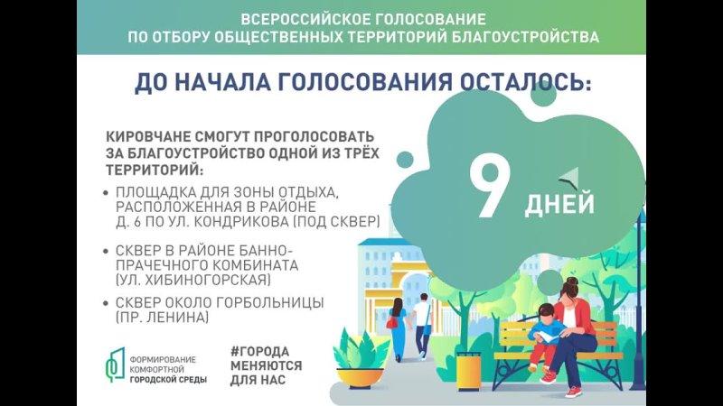 До начала голосования по выбору объектов благоустройства на 2022 год осталось 9 дней