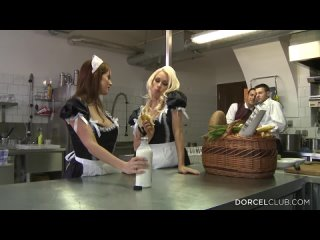 Busty Blond Have Anal Sex In The Kitchens