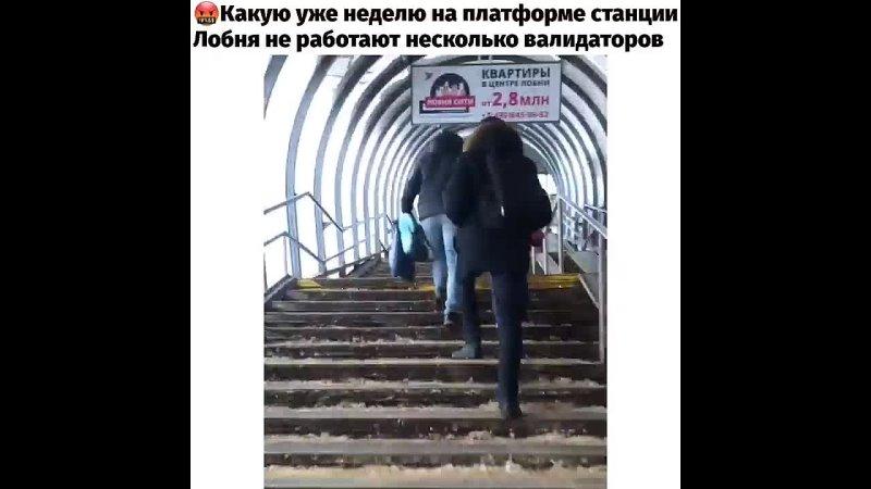 Доброе утро Какую уже неделю на платформе станции Лобня не работают несколько валидаторов Приходится стоять в очереди чтобы