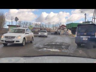 Ачинск. Ямище на пересечении Чуприянова/3-ей Карьерной