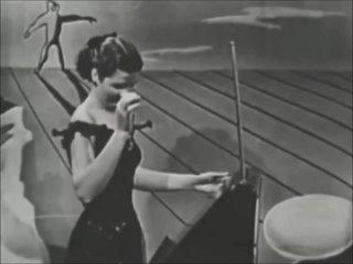 Терменвокс в телешоу, 1950-е.
