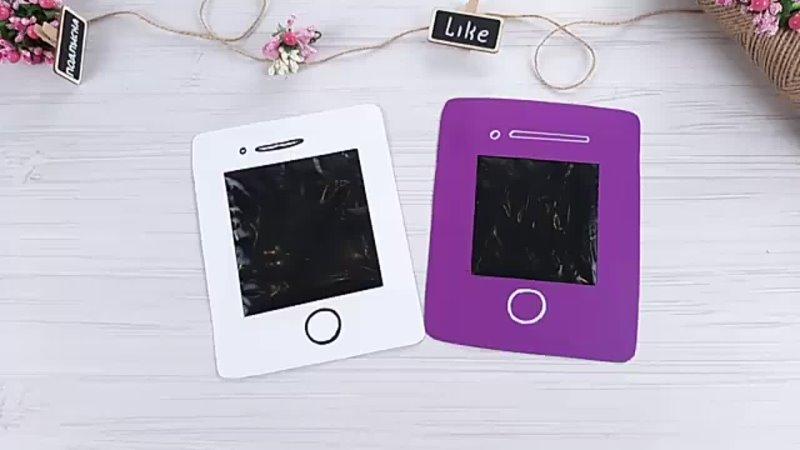 DIY -Как быстро и легко сделать планшет из бумаги Антистресс Развивашка для детей.144P.mp4