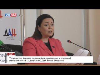 «Государство Украина должно быть привлечено к уголовной ответственности», - депутат НС ДНР Елена Шишкина.