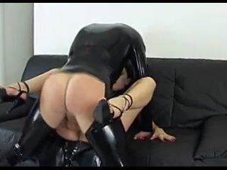 mistress and bi slaves (sex, porn, bdsm, latex, femdom, anal, bisex, фулл, слив, шкуры, facesitting, asslick, cocksuck)