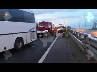Видео с места ДТП с автобусом под Тулой
