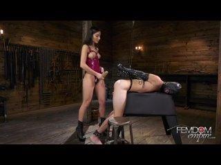 Femdomik | Фемдом Порно и Женская Доминация | Femdom Porn Latex Pegging Bondage