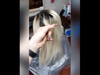 7 часов 30 мин и твои волосы стали длинными!!))))Обновили окрашивание, ушли от airtach в тотал блонд+ процедура холодный ботокс