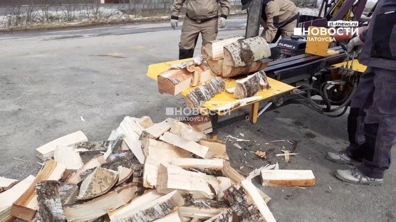 За три месяца златоустовские самоделкины спроектировали и собрали технику для колки дров.