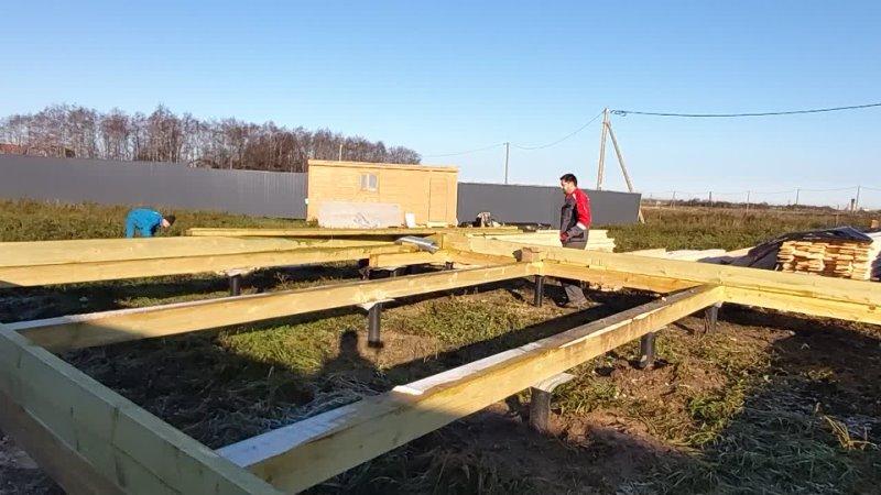 Строительство одноэтажного каркасного дома 2