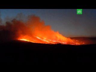 Крупный пожар в Красноярском крае