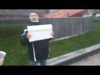В Курске один человек вышел на пикет