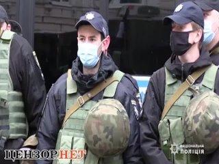 полицейские Киева провели учения в обстановке, максимально приближенной к боевой.