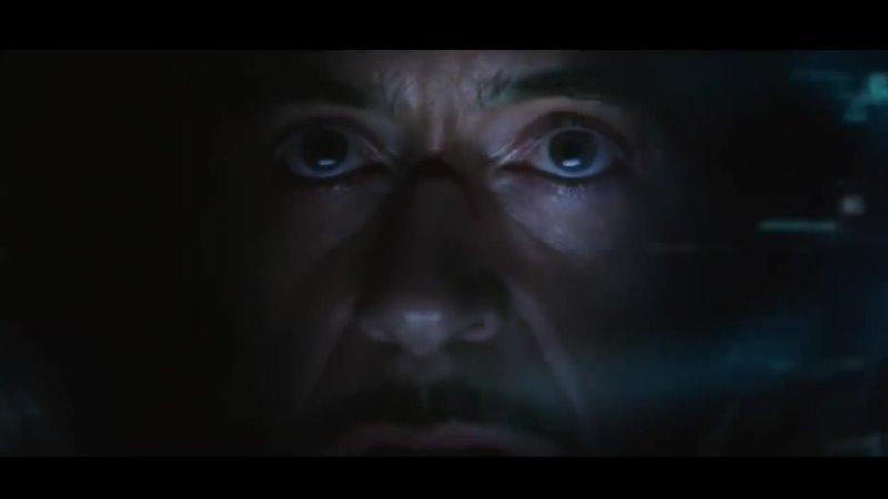 Мстители война бесконечности,железный человек против таноса
