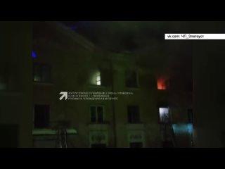 Во время возгорания в доме на улице Тургенева пострадал житель Златоуста