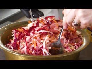 Этот салат вы будете есть всю зиму. Салат из капусты Кремлевская Хряпа. Любимый салат Брежнева