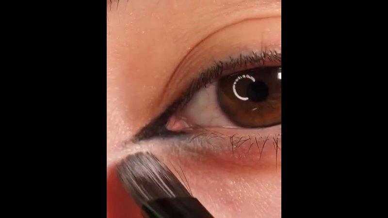 Кошачий глаз пошагово