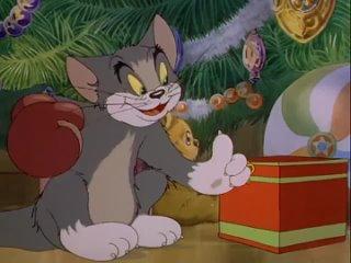 Рождественский Том и Джерри, старый всеми любимый мультик _))) С наступающим НОВ