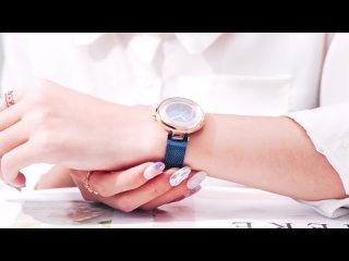 Часы женские мини фокус роскошные брендовые прозрачные водонепроницаемые модные с сетчатым ремешком