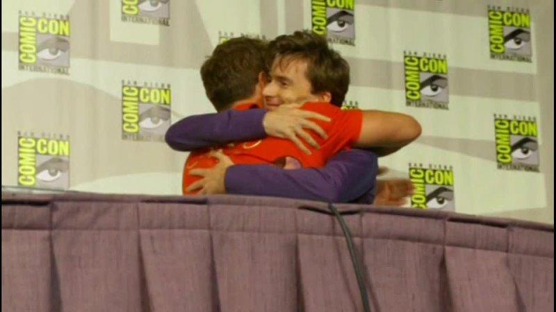 David Tennant at Comic Con Kiss to Barrowman