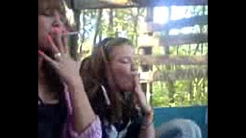 Young russian girls smoking