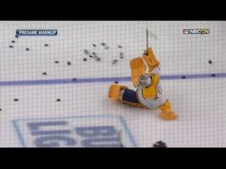 Падение Юусе Сароса при выходе на лёд