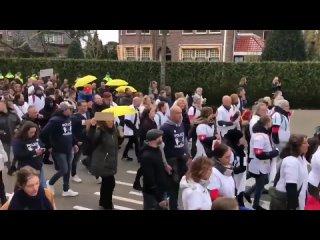 Manifestation à Baarn aux Pays-Bas contre les restrictions