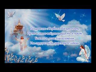 С Вербным Воскресеньем !  Отличная Видео Открытка Пожелания ! ✨💮💞