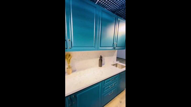 Кухня в голубом цвете mp4