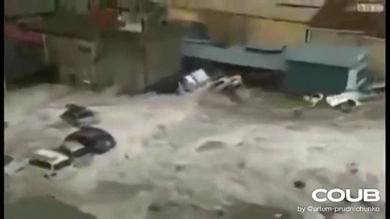 Небывалое наводнение в Саудовской Аравии смывает город Мекке, дождь, град Саудовская Аравия