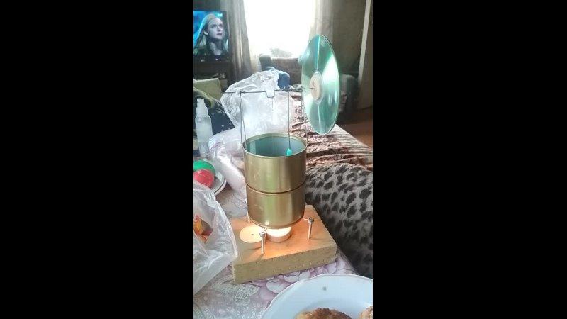Стирлинг из кошачьих консервов