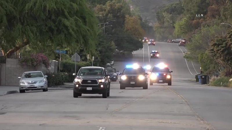Момент ареста подозреваемых после аварии в Сан Габриэль