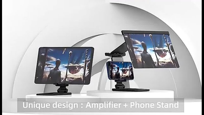 12 inch Mobile Phone Screen Amplifier Projector 3D HD Video Desktop Holder For iPhone 12 Max Smartphone Enlarged TV Movie Screen
