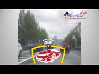 ДТП Донецк  - горит машина скорой помощи