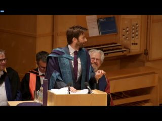 David Tennant Receives Honorary Degree From The Royal Conservatoire Of Scotland