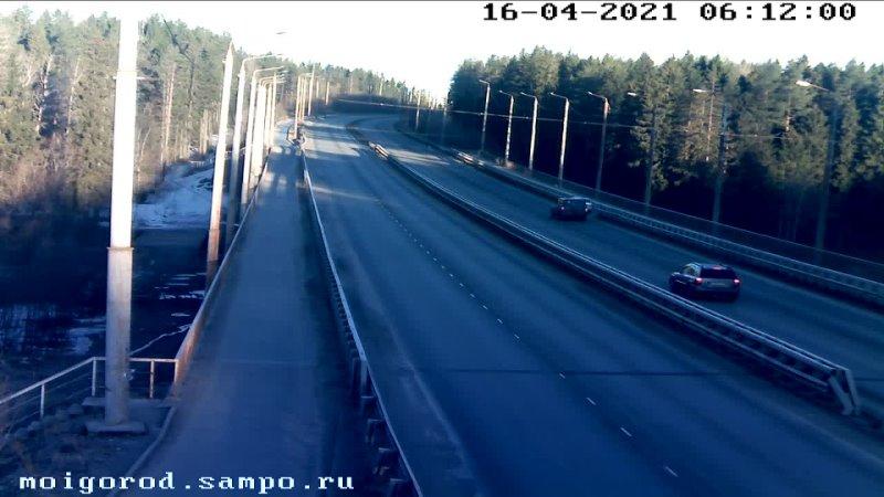 Авария на мосту между Кукковкой и Древлянкой