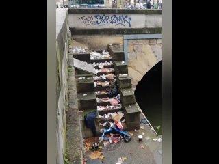 Парижане активно делятся своими видео о своём городе, о том, на что он стал похож в последнее время