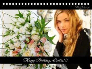 Happy Birthday, Cecilia!!!