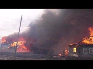 Пожар в деревне Ивановское