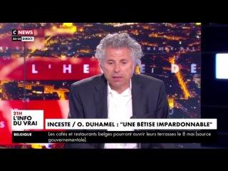Affaire Duhamel J'ai pas un mot à retirer de ce qu'a dit Finkielkraut [..] Ce n'est pas la même chose de sodomiser un petit enfa