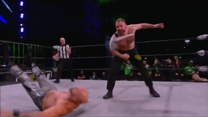 @JonMoxley gets the tag and attacks @MachineGunKA in a big way! Watch AEWDynamite St. Patricks Day Slam NOW on @TNTDrama.mp4
