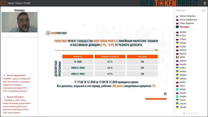 Презентация проекта Profitbot (Искандер Хасанов)