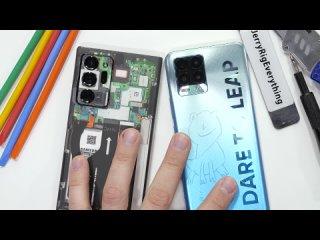 Разборка Realme 8 Pro сравнение 108mp сенсора камеры с Galaxy Note 20 Ultra