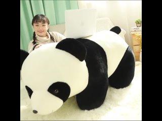 Милая детская большая гигантская панда, медведь, плюшевая кукла с набивным животным, животные, игрушка, подушка, мультяшные