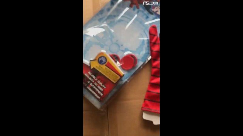 Disney marvel детская плюшевая школьная сумка, капитан америка, железный человек, человек паук, перчатки пускового устройства,