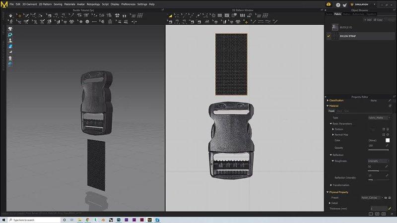 How to Create Buckles Straps Marvelous Designer CLO 3d